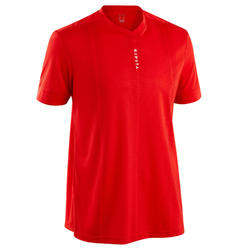Camiseta de Fútbol Kipsta F500 adulto rojo liso