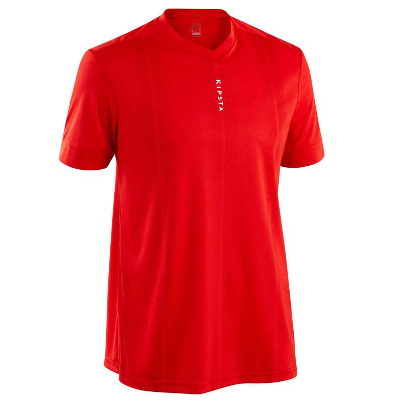 Odzież treningowa/meczowa dla dorosłych Piłka nożna - Koszulka F500 czerwona KIPSTA - Odzież piłkarska