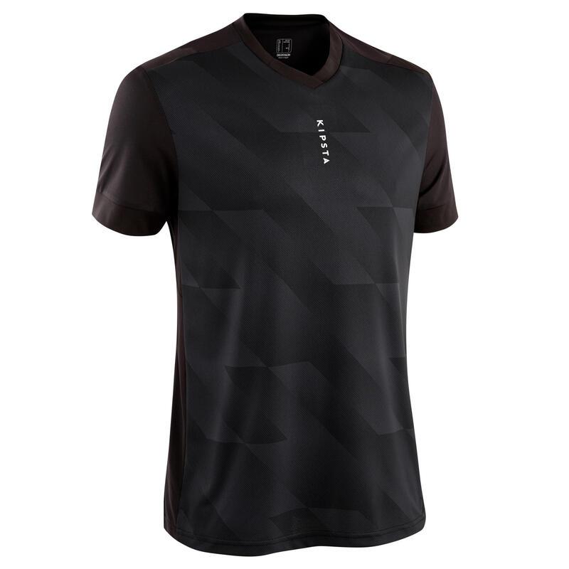 Adult Football Shirt F500 - Plain Black