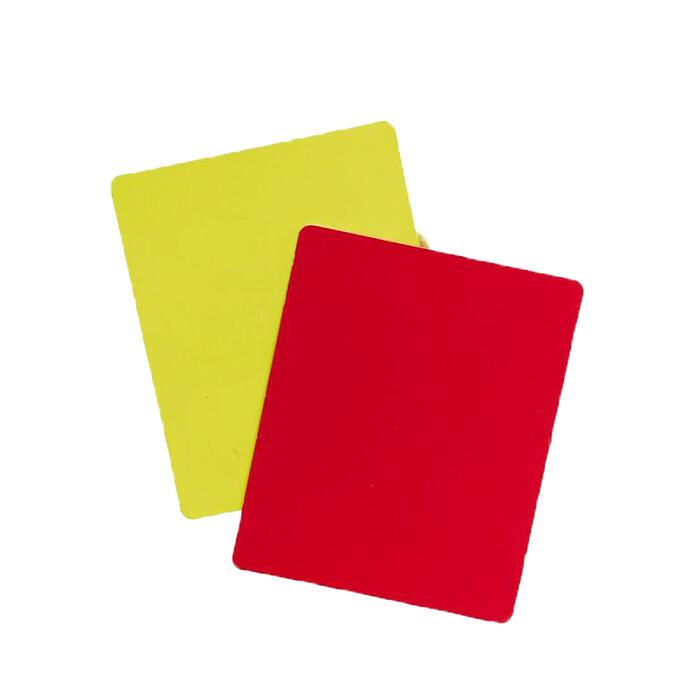 Scheidsrechterskaarten set geel/rood