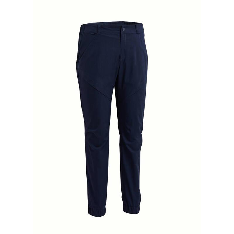 PÁNSKÉ KALHOTY NA NENÁROČNOU TURISTIKU Turistika - Kalhoty NH 500 Slim modré QUECHUA - Turistické oblečení