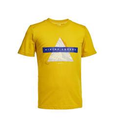 兒童款健行T恤MH100-蜂蜜色