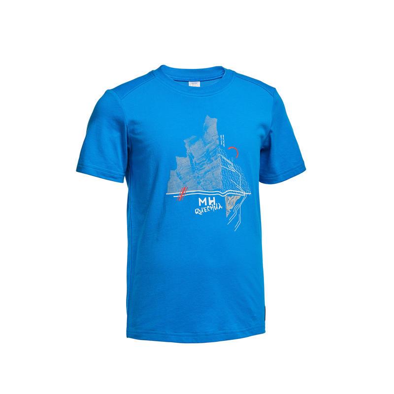 Kids' Hiking T-Shirt MH100 - Blue