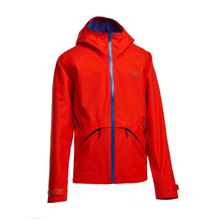兒童款防水健行外套-MH550-紅色