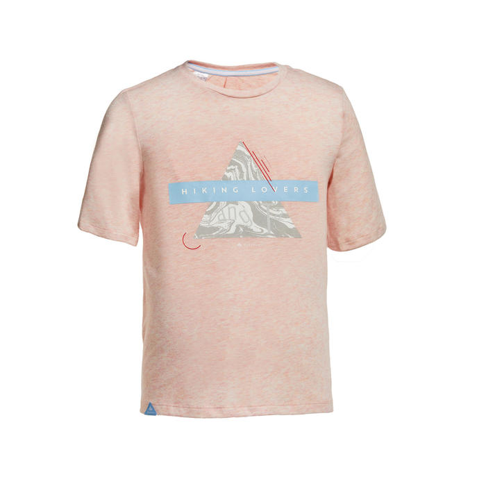 Kids' Hiking T-shirt MH100 - Pale Pink