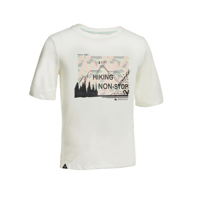 Kids' Hiking T-Shirt MH100 - White