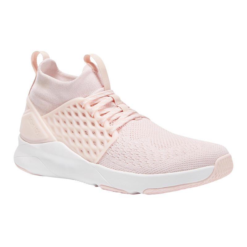 Zapatillas Fitness Domyos 520 Mujer Rosa Blanco