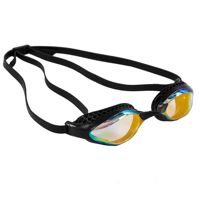 Lunettes de natation Arena Airspeed mirror jaune noir.