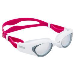 Occhialini nuoto THE ONE bianco-rosa