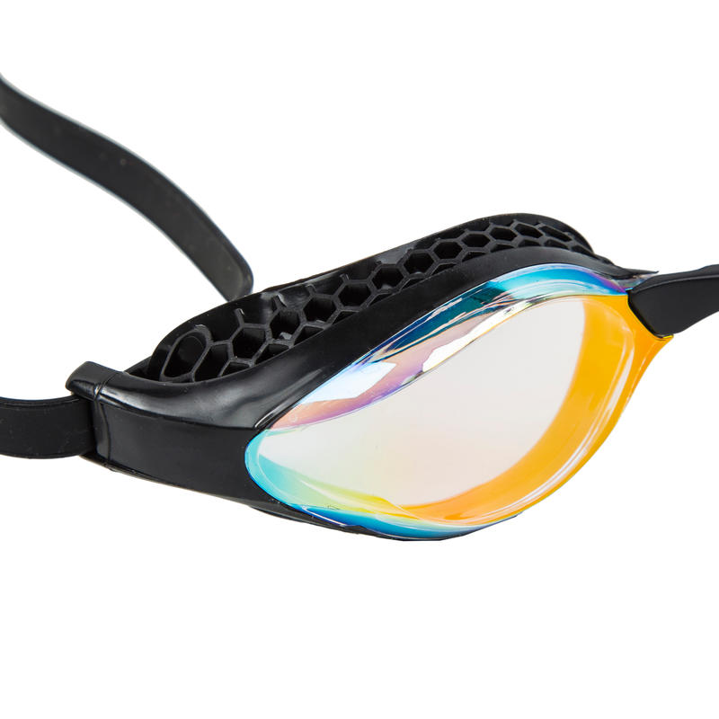 Swimming Goggles Arena Airspeed - Mirrored Yellow Black.