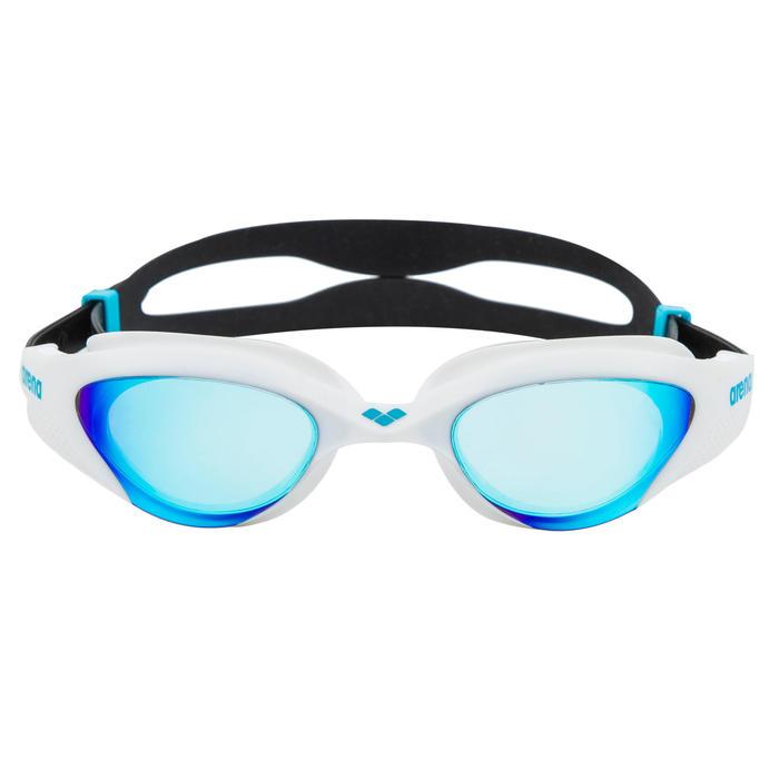 Zwembril The One blauw/wit spiegelglazen