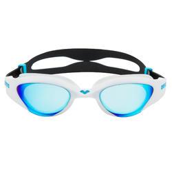 Óculos de natação The One espelhado azul branco