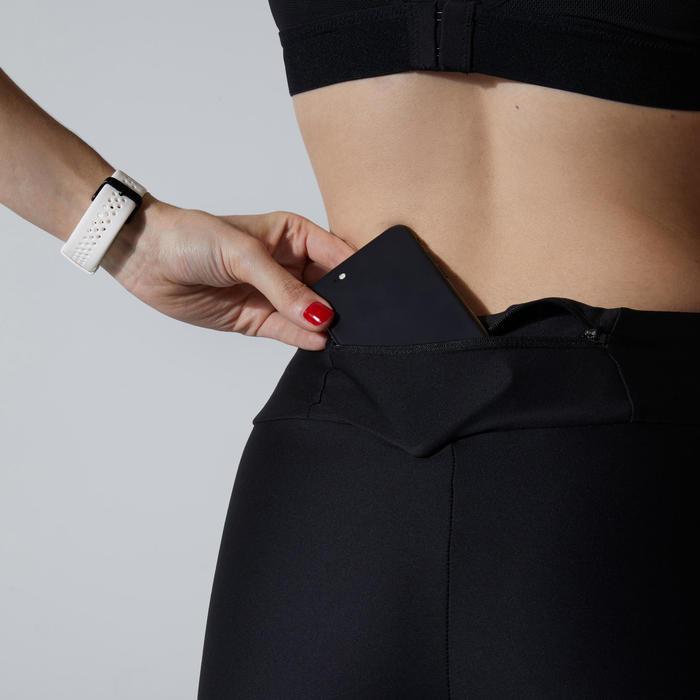 Korte hardloopbroek voor dames Run Dry zwart