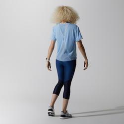 RUN FEEL WOMEN'S RUNNING T-SHIRT - BLUE/LAVENDER