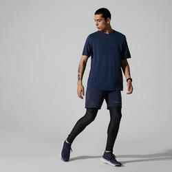 Regular fit T-shirt Run Dry+ Feel Blauw