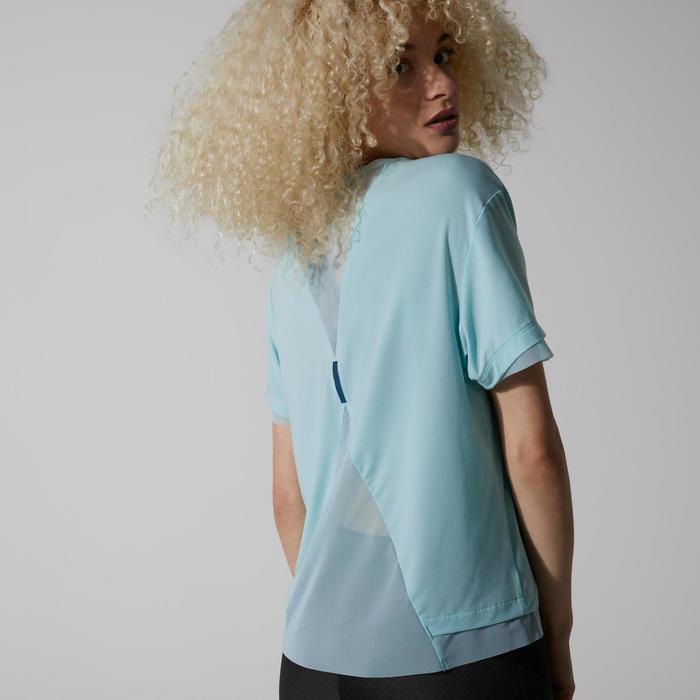 Joggingshirt voor dames blauw/turkoois