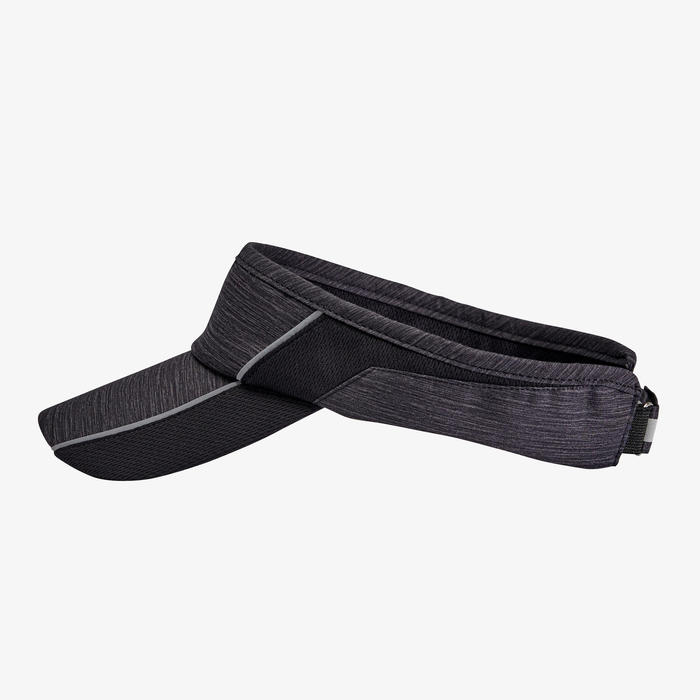 ADJUSTABLE RUNNING VISOR - MOTTLED BLACK MEN WOMEN