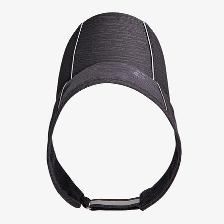 Adjustable Visor Running  Mottled Black