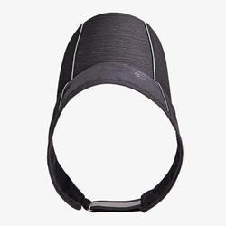可調式跑步遮陽帽 - 雜黑色 男款女款