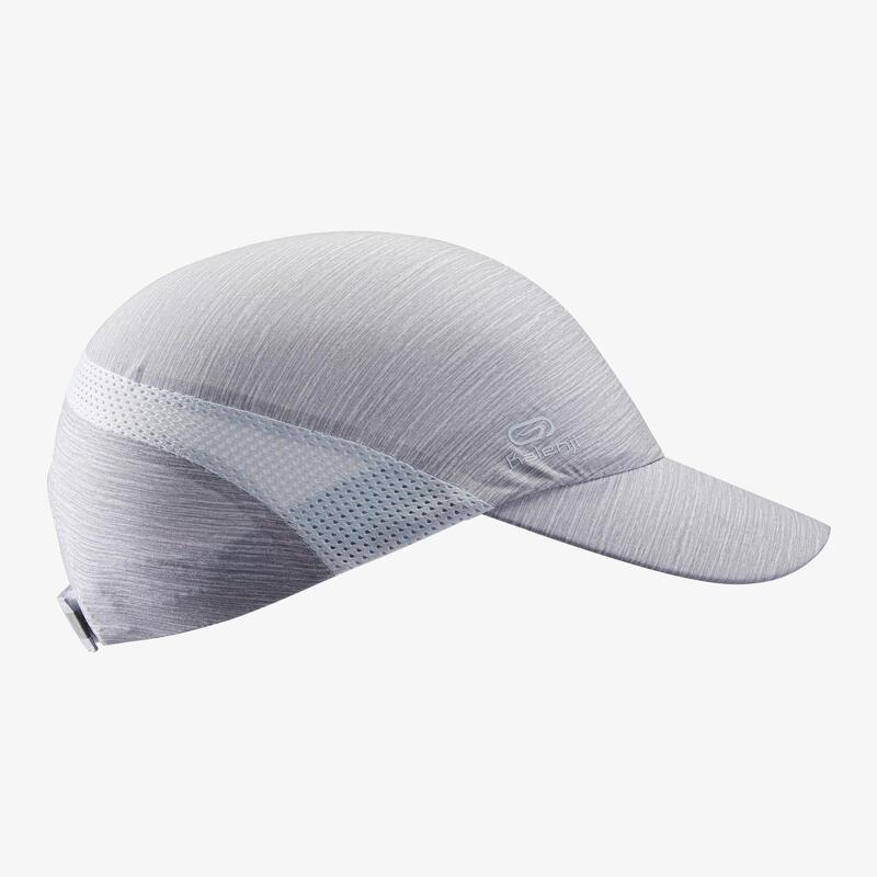 Cappellino running unisex\ngrigio chiaro