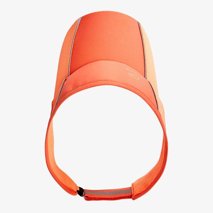 可調式跑步遮陽帽 - 珊瑚紅