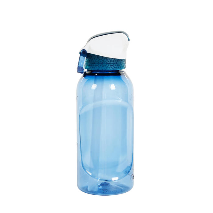 Hiking Water Bottle Instant Stopper with Straw 900 Tritan 0.5 Litre - Blue CN