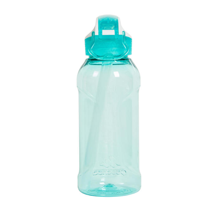 Hiking Water Bottle Instant Stopper with Straw 900 Tritan 0.5 Litre - Green CN