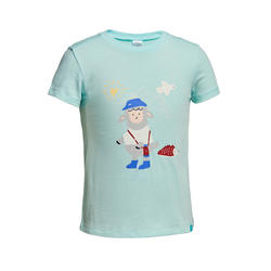 Hiking t-shirt - MH100 mint - children aged 2-6 YEARS