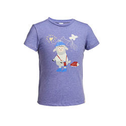 Kids' Hiking T-Shirt - MH100 KID Aged 2-6 - Mauve