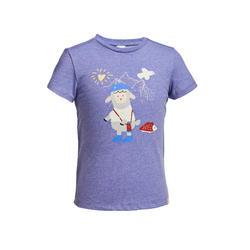 兒童款健行T恤MH100 Kid-淺紫色