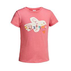 兒童款健行T恤MH100-粉紅色