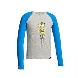 Kid's ANTI-UV ls hiking T-shirt - MH150 - grey - children aged 2 to 6 YEARS