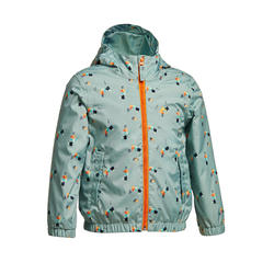 Kids' Waterproof Hiking Jacket - MH500 KID Aged 2-6 - Green