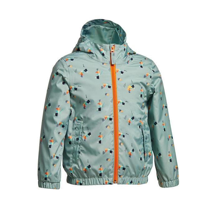 Waterproof hiking jacket - MH500 KID green - children aged 2-6 YEARS