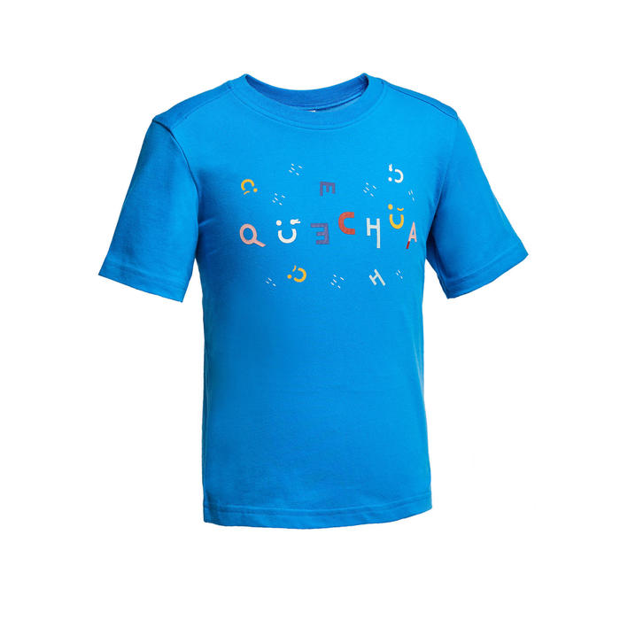 Hiking t-shirt - MH100 blue - children aged 2-6 YEARS