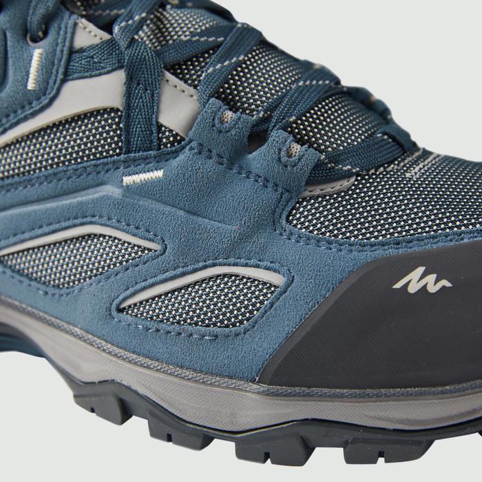 男款防水登山健行鞋MH100-藍色/灰色