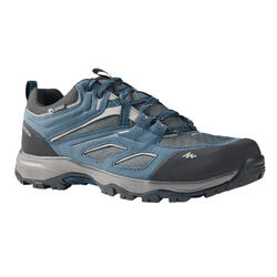 WATERPROOF MOUNTAIN HIKING SHOES - MH100 BLUE/GREY - MEN
