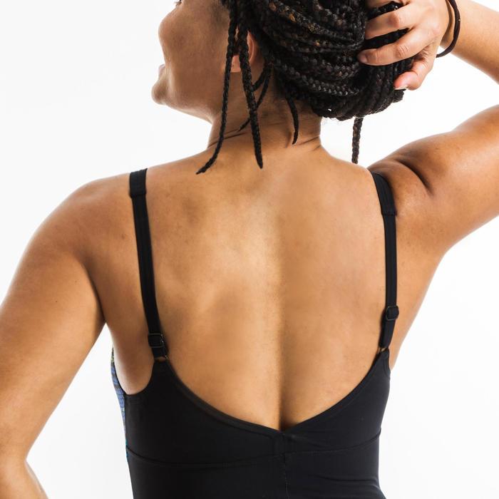 Maillot de bain une pièce d'Aquagym femme Naomi wing back noir