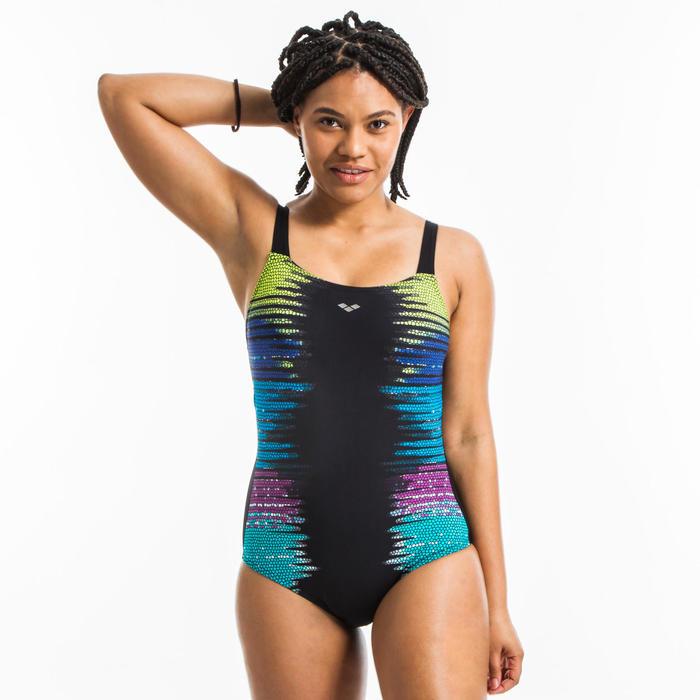 Bañador 1 Pieza Aquagym Naomi Wing Back Mujer Negro