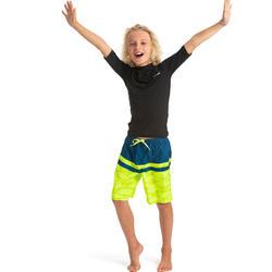 Bañador Niño Surf Olaian 100L Tween Shad Amarillo Largo