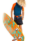 Calções Rapaz Kitesurf, Papagaios - CALÇÕES DE PRAIA RAPAZ BS 500 OLAIAN - Bikinis, Calções, Chinelos e Toalhas