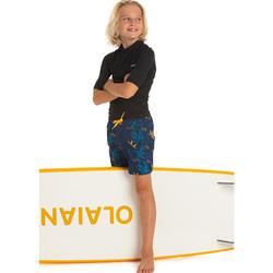 Fato de banho de Surf 100 Menino azul