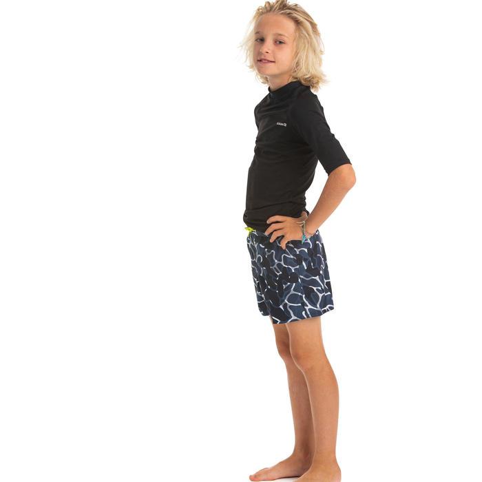 Fato de Banho de Surf 100 Camo Menino Azul