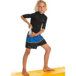 Fato de banho de Surf 100 Menino azul preto