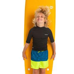 Fato de banho de Surf 100 Menino Azul Verde