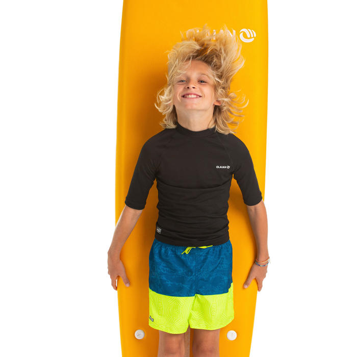 Maillot de bain Boardshort garcon 100 TWEEN SHIBA YELLOW