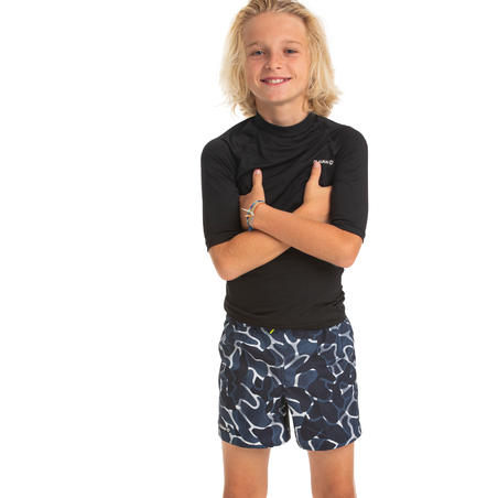 swimming shorts 100 - blue/camo