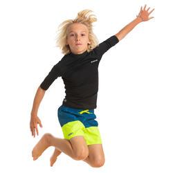 Bañador Niño Surf Olaian 100 Tween Shiba Amarillo
