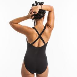 Maillot de bain une pièce d'Aquagym femme Opallux noir plum