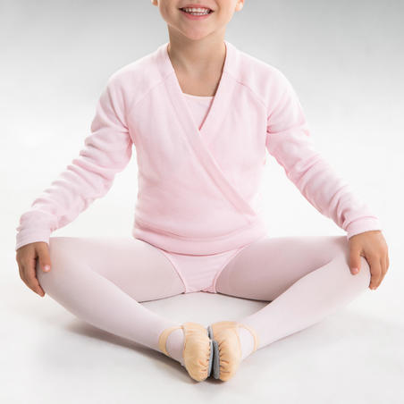 Ballet Full Sole Demi-Pointe Canvas Shoes Sizes 8C to 7 - Salmon
